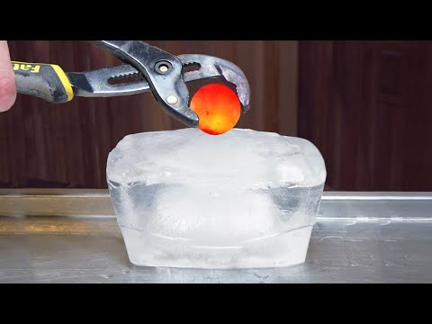 1000 DEGREE METAL BALL VS ICE - EXPERIMENT