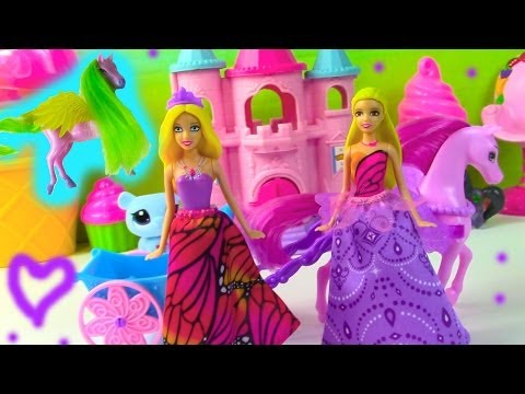 Barbie Pink Pegasus Horse Mariposa And The Fairy Princess Mini Doll Pony Toy Review