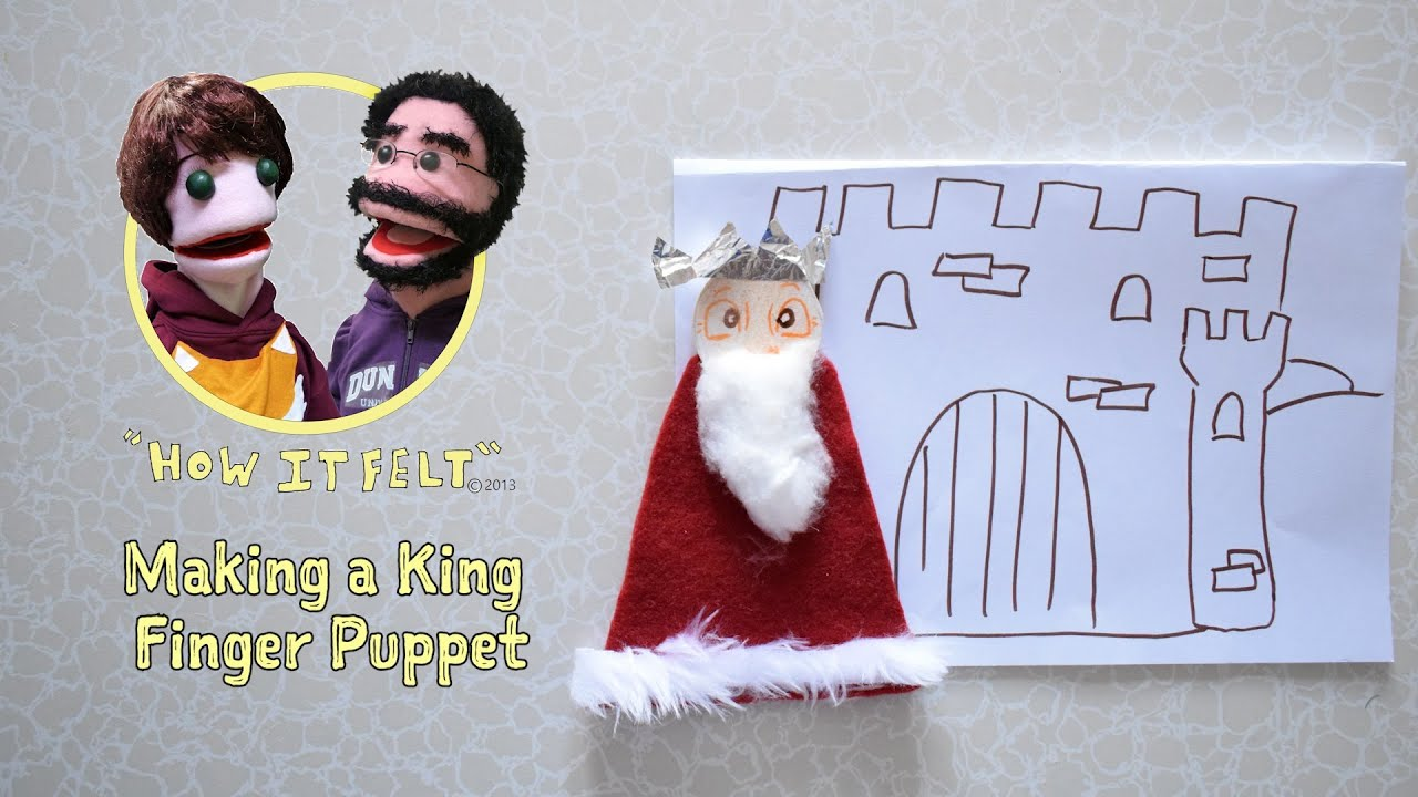 Fuzzy Finger Crafts: How to make a King finger puppet