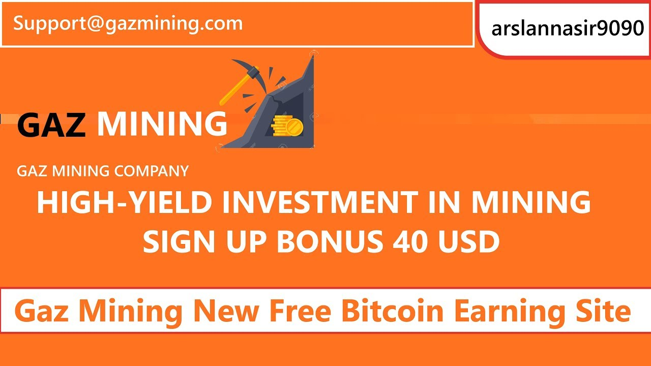 Gaz Mining Limited Free Bitcoin Earning $40 Signup Bonus | Earn Daily 1 57%  To 3 57% Live Urdu Hindi