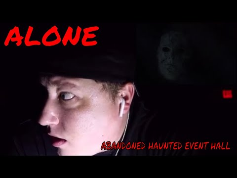 (30 Minute ALONE Challenge) ABANDONED HAUNTED EVENT HALL, ROBS TURN, EXPENSIVE STUFF LEFT HERE