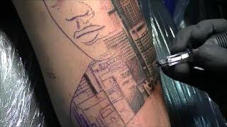City skyline - Tattoo time lapse
