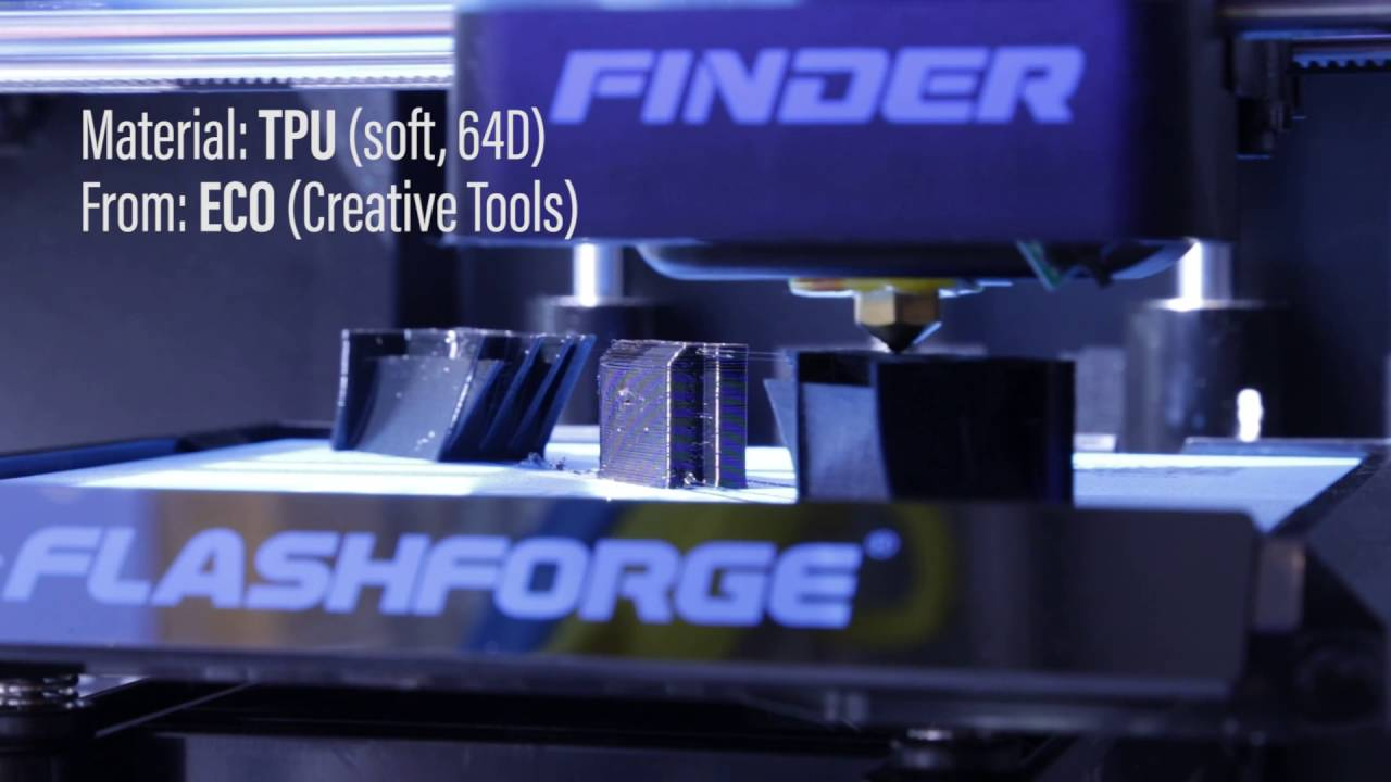 Flashforge Finder Review | running TPU, PETG and Wood? - Creative