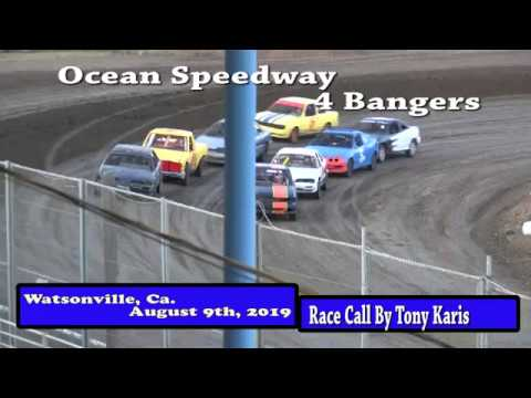 Ocean Speedway August 9th, 2019 4 Banger Main Event Highlights