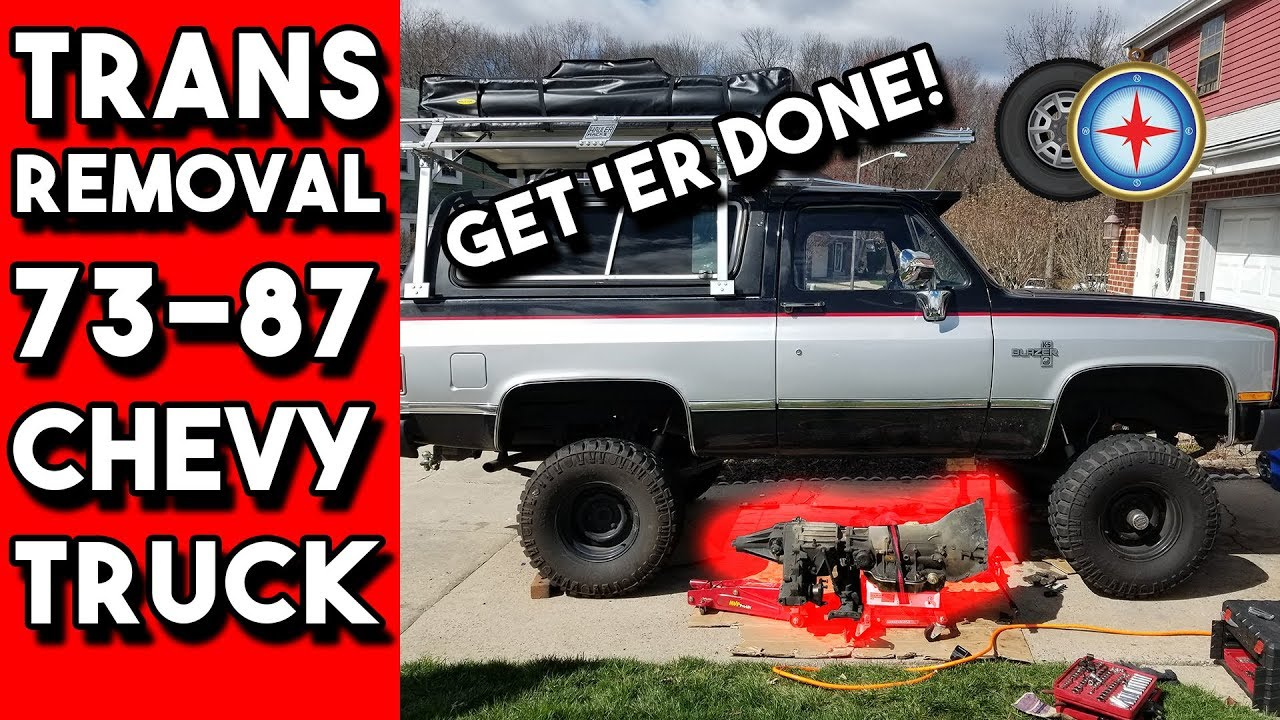 medium resolution of how to remove a th400 transmission 73 87 chevy truck gm