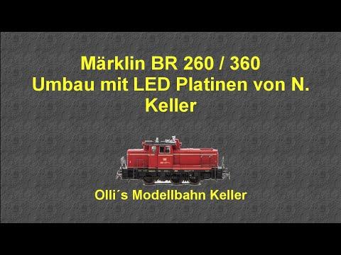 Märklin 37652 BR 362/260,, Umbau auf Beleuchtungsplatinensatz von Nicole Keller