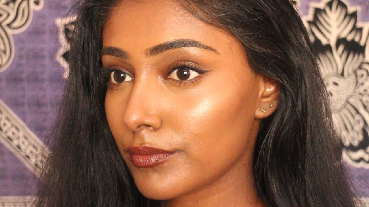 everyday makeup tutorial for brown / dark skin | simple drugstore look