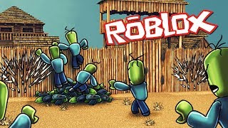Roblox | DEFEND BASE VS TINY ZOMBIES - Tower Battles! (Roblox Fort Defense Game)