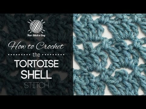 How To Crochet The Tortoise Shell Stitch Youtube