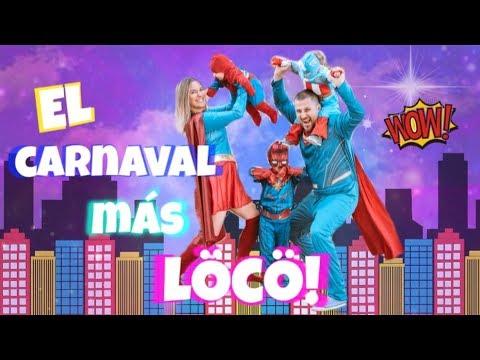 EL CARNAVAL MÁS LOCO 浪 EN FAMILIA - BEBÉS SUPERHÉROES  // Vlog en familia // ANNAISINSTA