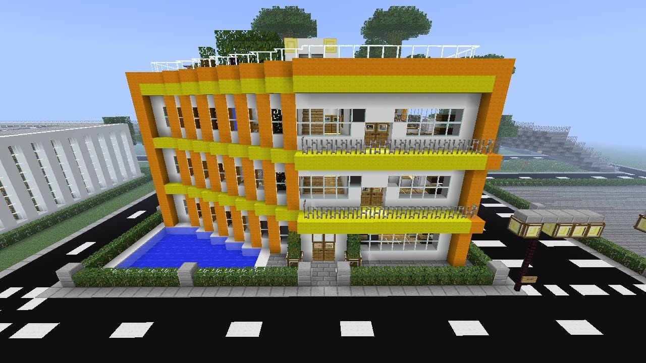 Minecraft Cool Modern Three Flats Building YouTube