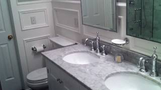Master Bathroom Remodel Ideas with Waterfall Shower fixture
