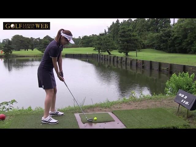 【女子2人ゴルフ】初心者が打つ真横でカメラ回してるとどうなる?