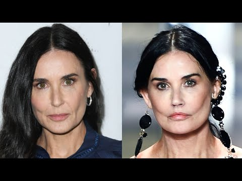 Why Demi Moore LOOKS DIFFERENT at Paris Fashion Week-Plastic Surgeries- Revealed
