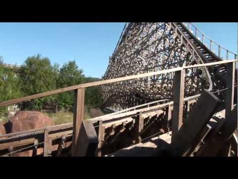 El Toro Wooden Roller Coaster POV Freizeitpark Plohn Germany On-Ride GCI