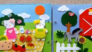 Hello Kitty Goes On A Picnic And Visits The Farm | Mèo Kiity Đi Dã Ngoại Và Thăm Trang Trại