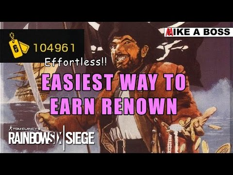 EASIEST WAY TO EARN RENOWN! - Automatic AFK Renown Farming | Rainbow Six Siege