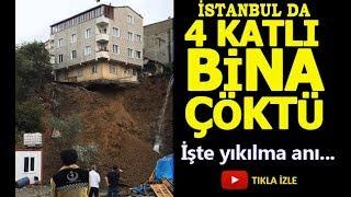 İstanbul Sütlüce De Bir Bina Canlı Yayın Da Böyle Yıkıldı