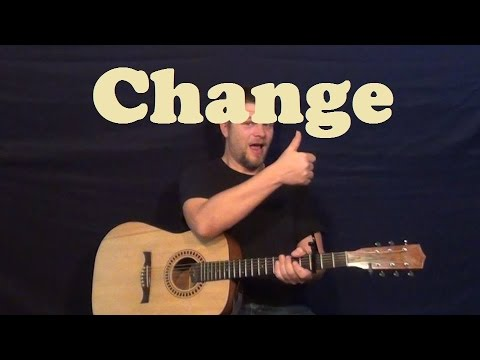 Change Poets Of The Fall Guitar Lesson Easy Strum Chords How To