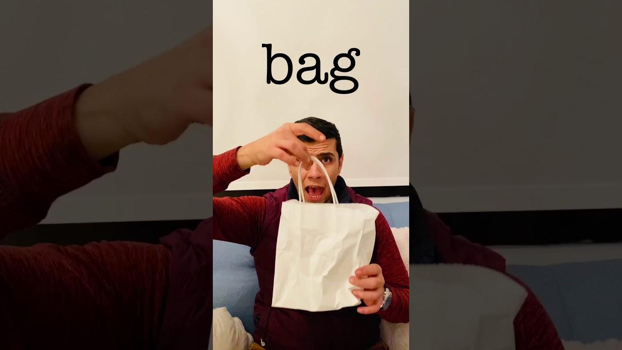 Paper bag and plastic bag تعلم الانجليزية