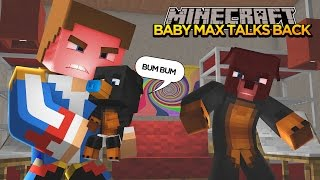 Minecraft - Donut the Dog Adventures -BABY MAX TALKS BACK!!!!