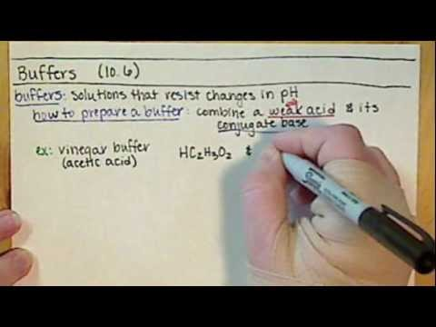Chem121 Introduction to Buffers (10.6)