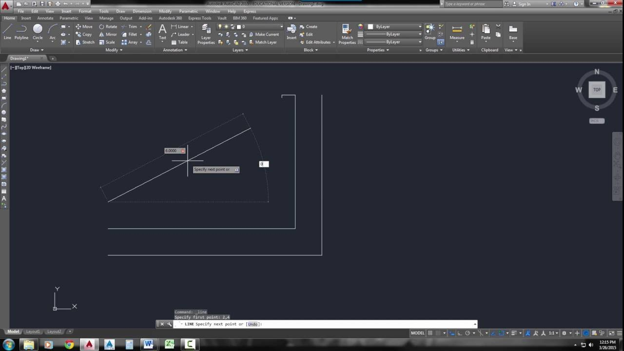 Line Drawing Algorithm In Cad : Autocad line command methods to draw lines with