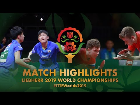 Tomokazu Harimoto/Yuto K. vs Denis Ivonin/Vladimir S. | 2019 World Championships Highlights (R64)