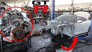 Rebuilding Nissan GTR '  How To Remove Nissan GTR - R-35  Engine