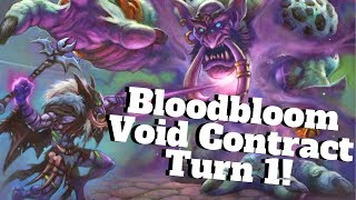 Bloodbloom Void Contract on Turn 1!!! Thanos Warlock! [Hearthstone Game of the Day]