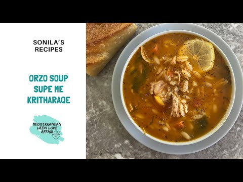 Orzo Soup with Turkey and Spinach