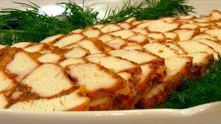 """Мясо """"Мраморное"""" Эффектная мясная закуска для праздничного стола."""