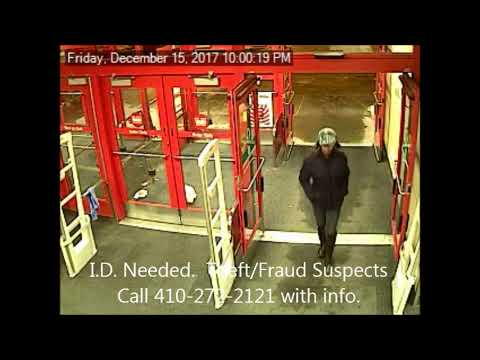 I.D. Needed - Theft / Fraud Suspects, Aberdeen Maryland