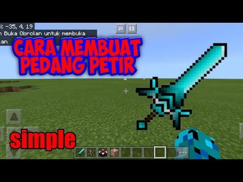Cara Membuat Pedang Petir Di Minecraft PE