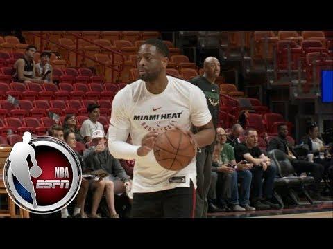 Dwyane Wade warms up in a Miami Heat uniform | NBA on ESPN