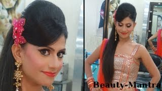 Indian Wedding Makeup - Vibrant Engagement Look - Complete Hair And Makeup