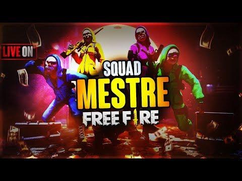 [🔴 LIVE] FREE FIRE ~ SQUAD MESTRE RUMO AO GLOBAL🔥FT. GUILDA TEAMメDANGER🔥 #90K
