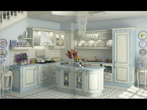 КУХНИ 2017  в стиле Прованс/ фото кухни/французский дизайн/ kitchen design in the style of Provence