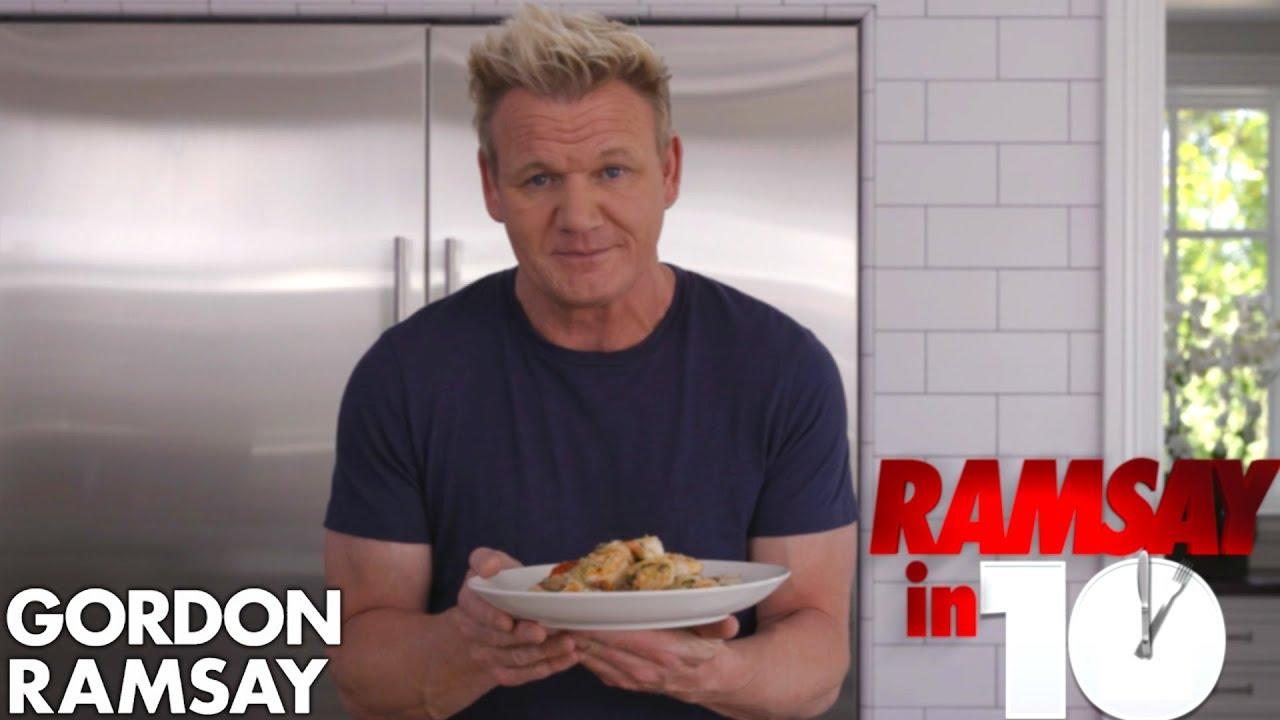 Gordon Ramsay Cooks Shrimp Scampi In