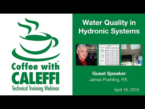 Water Quality in Hydronic Systems