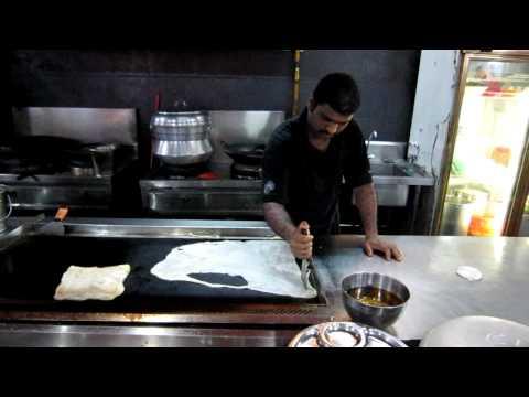 Making Roti Tissu in Malaysia