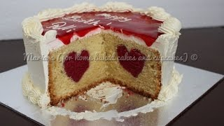 Valentine&#39s Hidden Heart Cake Tutorial  Cake Decorating