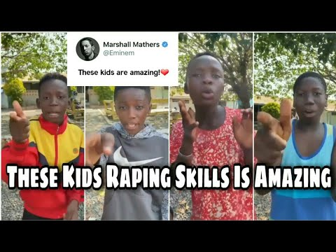 Black Kids Rapping And Killing The Beat | 4 Kids From Ghana With Their Amazing Rapping Skills !!