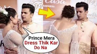 Prince Narula Adjusting Wife Yuvika Chaudhary's Dress Is So Sweet♥