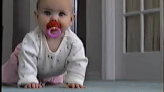 2000 Grace learning to crawl, Ben Kirby and Mandy are excited about it