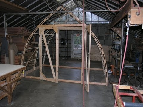 Build a 12' by 8' Gothic Arch Greenhouse for less than $200