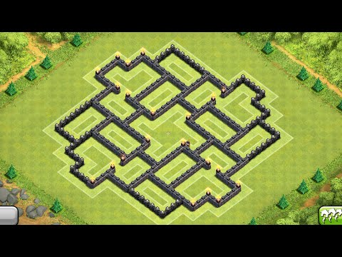 Clash of Clans - BEST Townhall 9 Farming Base - 2014