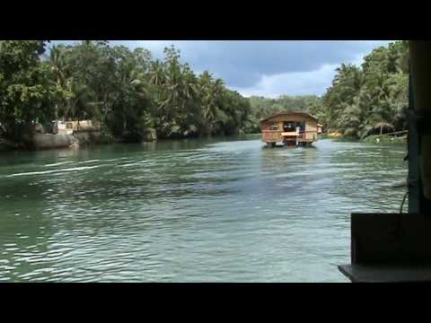 """""""Welcome to Bohol"""" on a river cruise"""