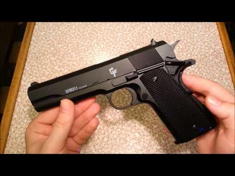 Budget Airsoft- Game Face Full Metal Spring 1911 Review