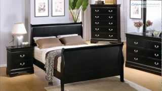 Louis Philippe Black Sleigh Bedroom Collection From Coaster Furniture